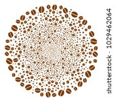 coffee bean burst circle.... | Shutterstock .eps vector #1029462064