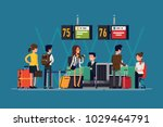 quality detailed flat vector... | Shutterstock .eps vector #1029464791