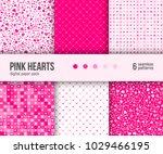digital paper pack  set of 6... | Shutterstock .eps vector #1029466195