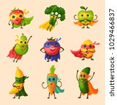 superhero fruits vector fruity... | Shutterstock .eps vector #1029466837