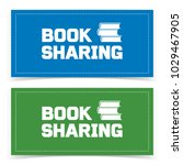 book sharing banner design.... | Shutterstock .eps vector #1029467905