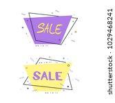 sale lettering on  horizontal... | Shutterstock .eps vector #1029468241