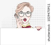pop art vintage advertising... | Shutterstock .eps vector #1029470911