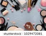 crushed decorative cosmetics | Shutterstock . vector #1029472081