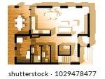 house plan 3d illustration | Shutterstock . vector #1029478477