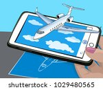 augmented reality. new... | Shutterstock .eps vector #1029480565