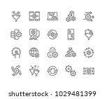 simple set of data processing... | Shutterstock .eps vector #1029481399
