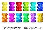 Gummy Bear Isolated On White...