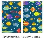 aquarium ocean fish underwater...   Shutterstock .eps vector #1029484861