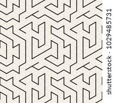 seamless pattern with maze or... | Shutterstock .eps vector #1029485731