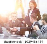 handshake business partners... | Shutterstock . vector #1029486454