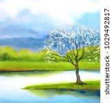 beautiful romantic bright... | Shutterstock . vector #1029492817