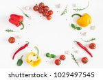 healthy food on white... | Shutterstock . vector #1029497545