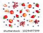 fruit pattern. fresh fruits...   Shutterstock . vector #1029497599