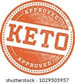 ketogenic diet recipe stamp | Shutterstock .eps vector #1029505957