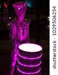 spark drummers at light up... | Shutterstock . vector #1029506254