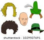 vector cartoon doodle set of...   Shutterstock .eps vector #1029507691