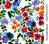 watercolor seamless pattern... | Shutterstock . vector #1029511927