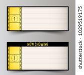 classic light box for the films ... | Shutterstock .eps vector #1029519175