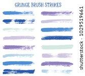 modern watercolor daubs set ... | Shutterstock .eps vector #1029519661