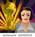 golden atlas holding the globe   Shutterstock .eps vector #1029520129