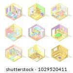 vector big set of isometric... | Shutterstock .eps vector #1029520411
