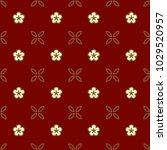 seamless floral background.... | Shutterstock .eps vector #1029520957