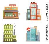 flat design of retro and modern ... | Shutterstock . vector #1029521665