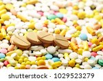 a lot of colorful pills macro   Shutterstock . vector #1029523279
