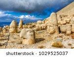 nemrut has giant sculptures and ... | Shutterstock . vector #1029525037