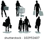 shopping  black silhouettes... | Shutterstock .eps vector #102952607