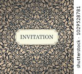 wedding invitation template.... | Shutterstock .eps vector #1029528781