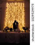 the kiss of the bride and groom.... | Shutterstock . vector #1029529975