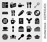 restaurant vector icon set. tea ... | Shutterstock .eps vector #1029531421
