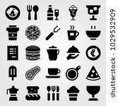 restaurant vector icon set.... | Shutterstock .eps vector #1029532909