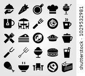restaurant vector icon set.... | Shutterstock .eps vector #1029532981