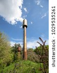 Old Rusty Water Tower On A...