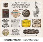 set of premium quality and... | Shutterstock .eps vector #102953957