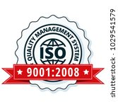 iso 9001 2015 label illustration | Shutterstock .eps vector #1029541579