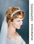 young beautiful bride with a...   Shutterstock . vector #1029545551