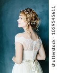 young beautiful bride with a...   Shutterstock . vector #1029545611