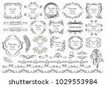 set of vector graphic elements... | Shutterstock .eps vector #1029553984