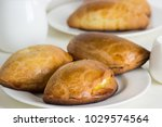 homemade pies  with cottage... | Shutterstock . vector #1029574564