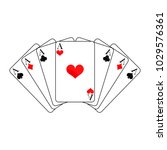 playing cards on white... | Shutterstock .eps vector #1029576361