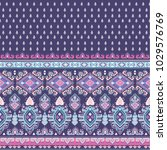 indian rug paisley ornament... | Shutterstock .eps vector #1029576769