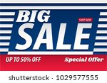 big sale 50   discount special... | Shutterstock .eps vector #1029577555