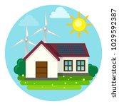 concept of green renewable... | Shutterstock .eps vector #1029592387