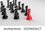 leadership concept  red pawn of ... | Shutterstock . vector #1029602617