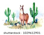 desert of south america with... | Shutterstock . vector #1029612901