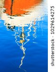 reflection of the ship in the... | Shutterstock . vector #1029614275